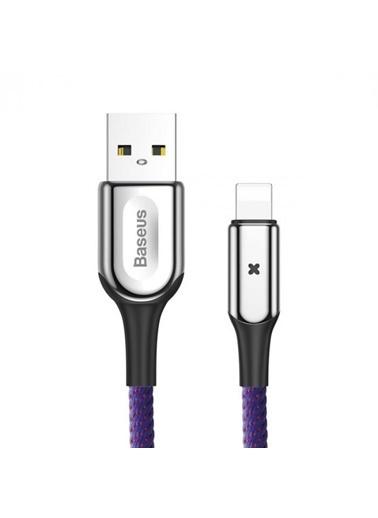 Baseus X Type iPhone iPad Lightning Kopmaz Şarj Kablosu 50cm Renkli
